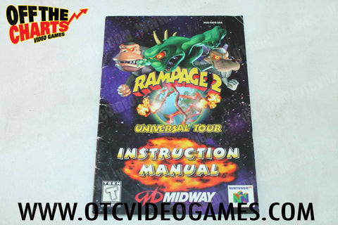 Rampage 2: Universal Tour Manual - Off the Charts Video Games