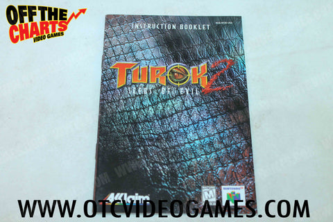 Turok 2 Seeds of Evil  Manual - Off the Charts Video Games