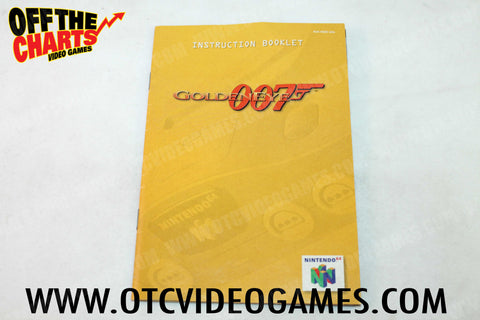 Goldeneye 007 Manual Nintendo 64 Manual Off the Charts