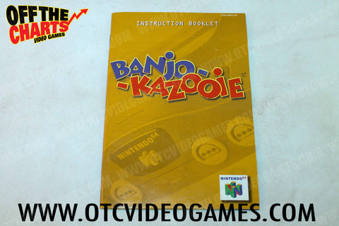 Banjo Kazooie Manual Nintendo 64 Manual Off the Charts