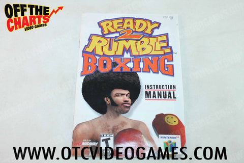 Ready 2 Rumble Boxing Manual - Off the Charts Video Games
