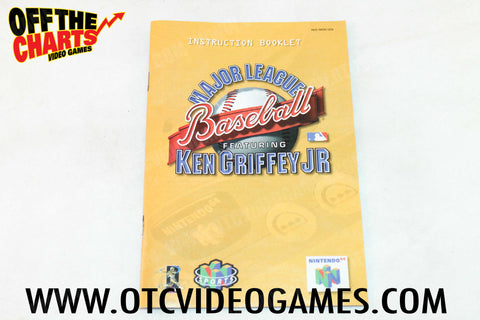 Major League Baseball featuring Ken Griffey Jr. Manual - Off the Charts Video Games