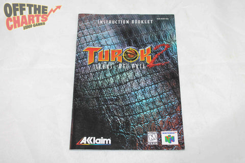 Turok 2 Seeds of Evil  Manual Nintendo 64 Manual Off the Charts