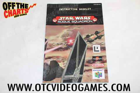 Star Wars Rogue Squadron Manual - Off the Charts Video Games