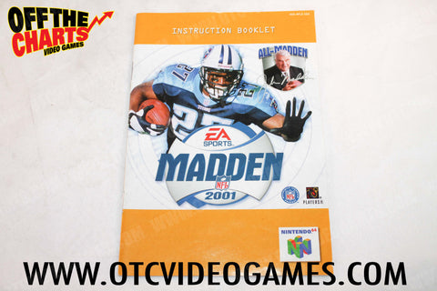 Madden 2001 Manual - Off the Charts Video Games