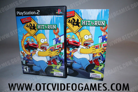 The Simpsons Hit & Run Playstation 2 Game Off the Charts
