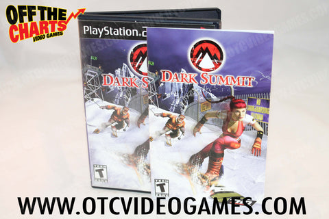 Dark Summit Playstation 2 Game Off the Charts