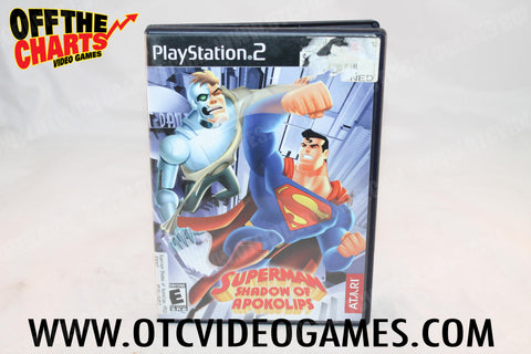 Superman Shadow of Apokolips Playstation 2 Game Off the Charts