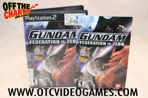 Mobile Suit Gundam Federation vs Zeon Playstation 2 Game Off the Charts