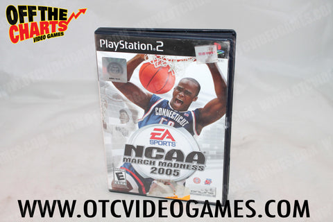 NCAA March Madness 2005 Playstation 2 Game Off the Charts