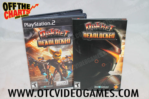 Ratchet Deadlocked Playstation 2 Game Off the Charts