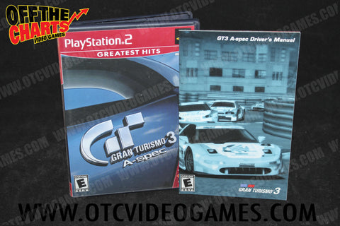 Gran Turismo 3 A-Spec Playstation 2 Game Off the Charts