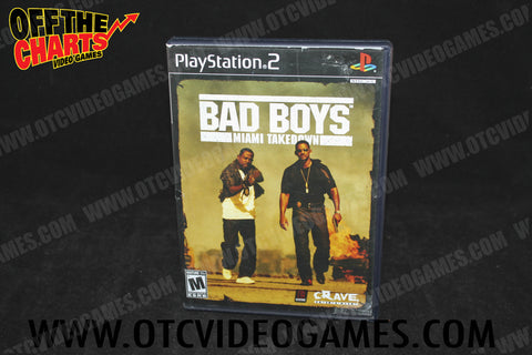 Bad Boys Miami Takedown Playstation 2 Game Off the Charts