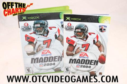 Madden 2004 Xbox Game Off the Charts