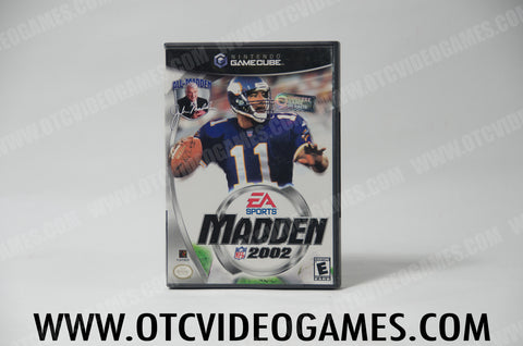 Madden 02 Nintendo Gamecube Game Off the Charts