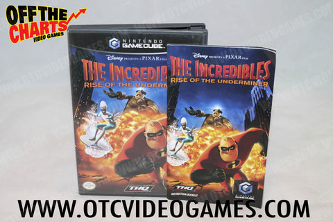 The Incredibles: Rise of the Underminer Nintendo Gamecube Game Off the Charts