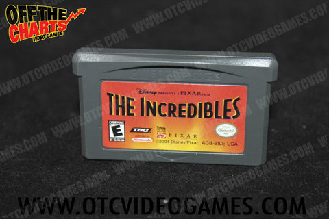 The Incredibles Game Boy Advance Game Off the Charts