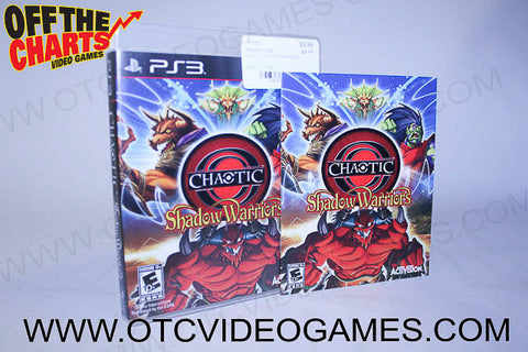 Chaotic Shadow Warriors Playstation 3 Game Off the Charts