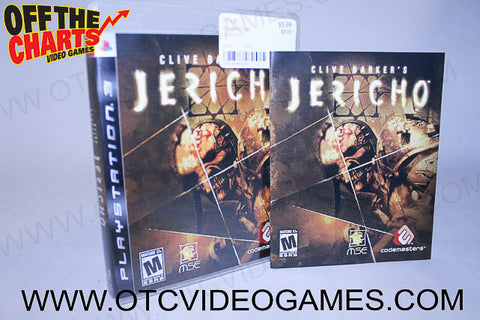 Clive Barker's Jericho Playstation 3 Game Off the Charts