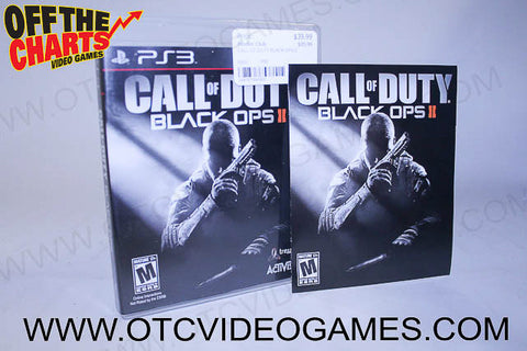 Call Of Duty Black Ops 2 Playstation 3 Game Off the Charts
