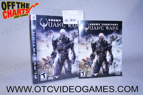 Enemy Territory Quake Wars Playstation 3 Game Off the Charts