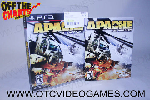 Apache Air Assault Playstation 3 Game Off the Charts