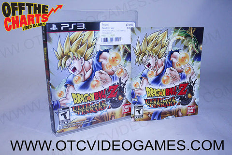 Dragonball Z Ultimate Tenkaichi Playstation 3 Game Off the Charts
