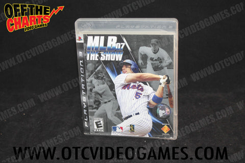MLB 07 The Show Playstation 3 Game Off the Charts