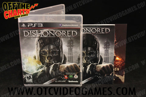 Dishonored Playstation 3 Game Off the Charts