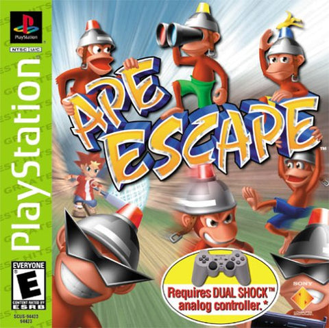 Ape Escape Playstation Game Off the Charts