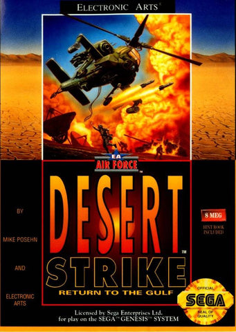 Desert Strike Sega Genesis Game Off the Charts