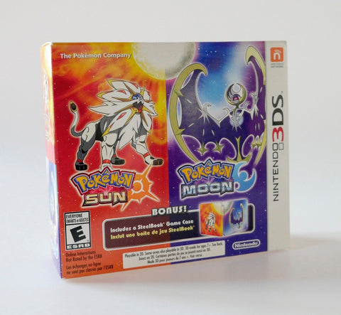 Pokemon Sun and Pokemon Moon Steelbook Dual Pack Nintendo 3DS Game Off the Charts