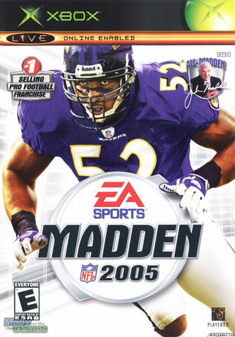 Madden 2005 Xbox Game Off the Charts