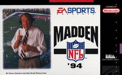 Madden NFL 94 Super Nintendo Game Off the Charts