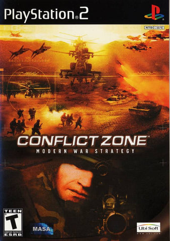 Conflict Zone: Modern War Strategy Playstation 2 Game Off the Charts