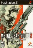 Metal Gear Solid 2 Playstation 2 Game Off the Charts