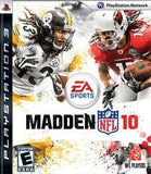 Madden 10 Playstation 3 Game Off the Charts