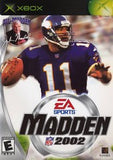 Madden 2002 Xbox Game Off the Charts