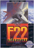 F22 Interceptor Sega Genesis Game Off the Charts