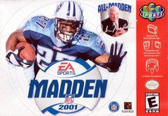 Madden 2001 Nintendo 64 Game Off the Charts