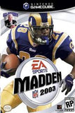 Madden 2003 Nintendo Gamecube Game Off the Charts