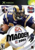 Madden 2003 Xbox Game Off the Charts