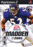 Madden 2005 Playstation 2 Game Off the Charts
