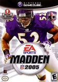 Madden 2005 Nintendo Gamecube Game Off the Charts