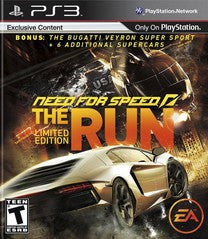 Need for Speed: The Run Limited Edition Playstation 3 Game Off the Charts