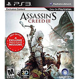 Assassin's Creed III Playstation 3 Game Off the Charts
