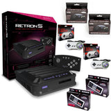 Retron 5 HD 5-in-1 Retro Game System with 2 Each of SNES, NES, and Genesis Controllers Hyperkin Console Off the Charts