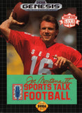 Sports Talk Football Sega Genesis Game Off the Charts