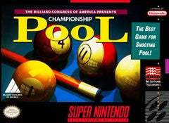 Championship Pool Super Nintendo Game Off the Charts