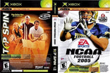 Top Spin/NCAA Football 2005 Double Pack Xbox Game Off the Charts